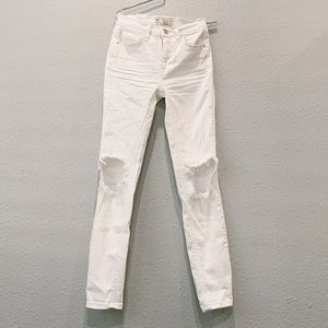 free ppl white distressed jeans